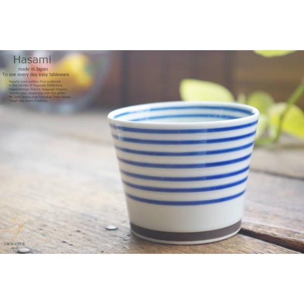 和食器 波佐見焼 カラーサイドライン おもてなし そば猪口 カップ 青 陶器 食器 うつわ おうち ごはん|ricebowl|03