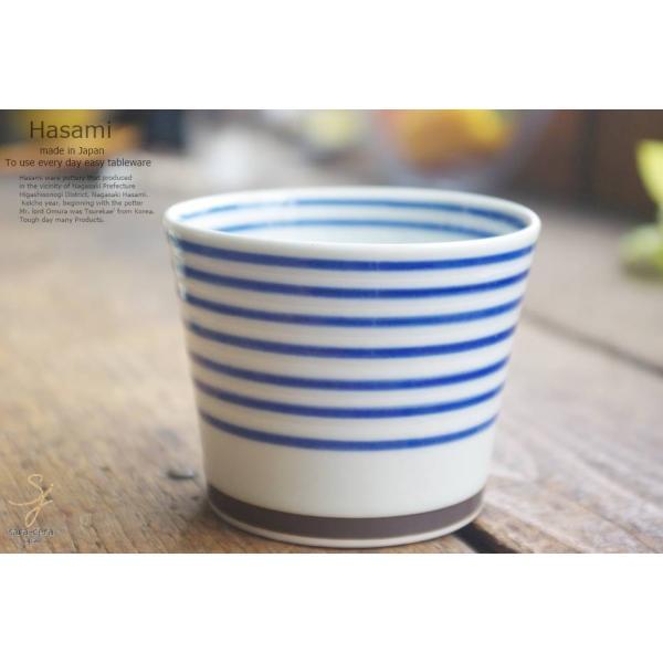 和食器 波佐見焼 カラーサイドライン おもてなし そば猪口 カップ 青 陶器 食器 うつわ おうち ごはん|ricebowl|04