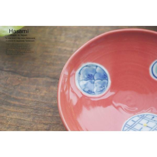 和食器 波佐見焼 赤釉薬丸紋 小皿  陶器 食器 うつわ おうち ごはん|ricebowl|03