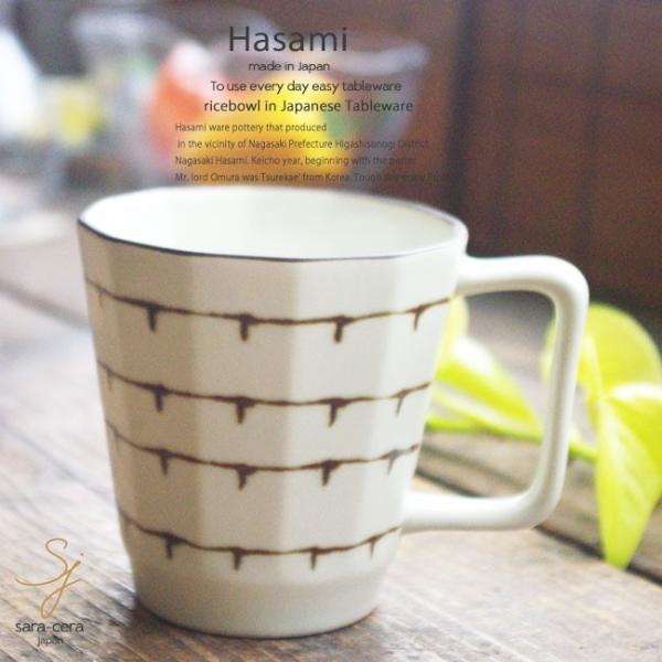 和食器 波佐見焼 スリップウエア ライン マグカップ カフェタイム コーヒー 紅茶 カップ BE 陶器 食器 うつわ おうち ごはん