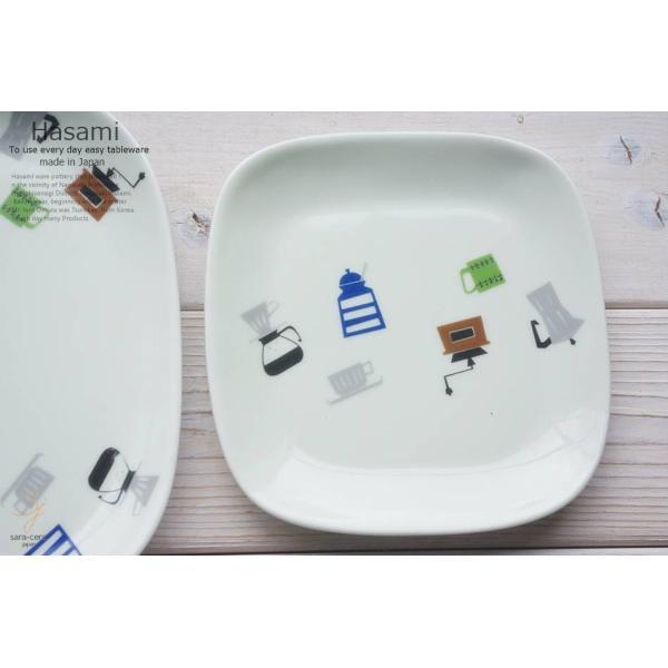 和食器 波佐見焼 スクエア プレート 正角皿 小 取り皿 おうち ごはん うつわ 陶器 美濃焼 日本製 コーヒータイム|ricebowl|04