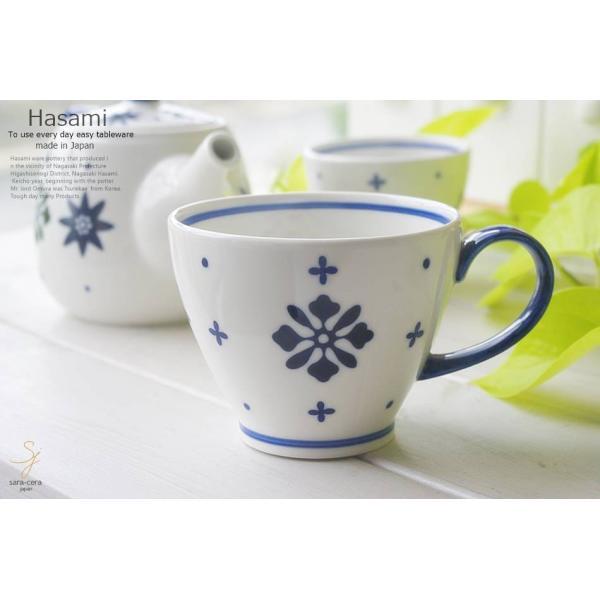 和食器 波佐見焼 フルール 藍染付けブルーマグカップ 紅茶 珈琲 コーヒー カフェ おうち うつわ 陶器 日本製 お茶 アイス おしゃれ|ricebowl|02