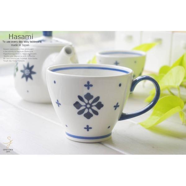 和食器 波佐見焼 フルール 藍染付けブルーマグカップ 紅茶 珈琲 コーヒー カフェ おうち うつわ 陶器 日本製 お茶 アイス おしゃれ|ricebowl|06
