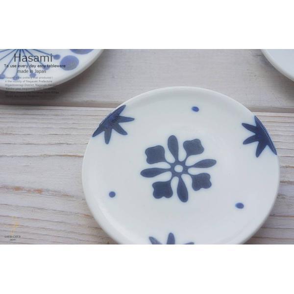 和食器 波佐見焼 フルール 藍染付けブルー 小皿 豆皿 プチディッシュ ミニプレート おうち うつわ 陶器 日本製 おしゃれ|ricebowl|04