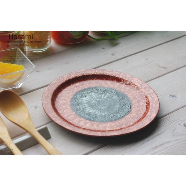 和食器 波佐見焼 アンテカレッド 赤デザートプレート ケーキ 皿 前菜 おうち うつわ 陶器 日本製 おしゃれ|ricebowl|05