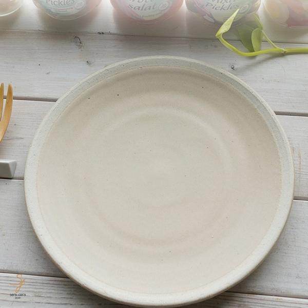 和食器 松助窯 おうちごはん ランチプレート カフェオレ茶色 ビスク 器 皿 美濃焼 パスタ カレー サラダ 陶器 食器 手づくり