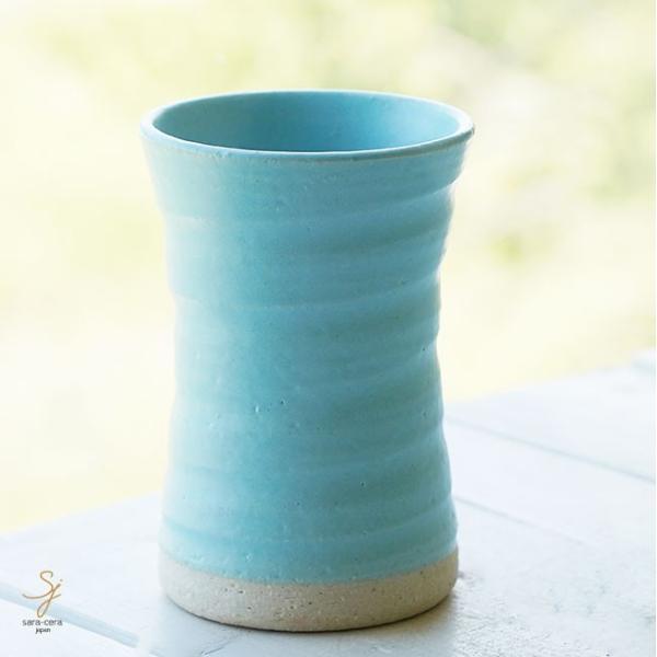 和食器 松助窯 タンブラー ブルーマット釉 フリーカップ コップ 焼酎 ビール アイス 器 皿 美濃焼 陶器 食器 手づくり