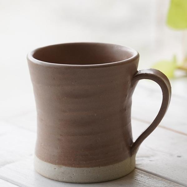 和食器 松助窯 カフェマグカップ ブラウン茶色 オフィス コーヒー おしゃれ 紅茶 器 皿 美濃焼 陶器 食器 手づくり
