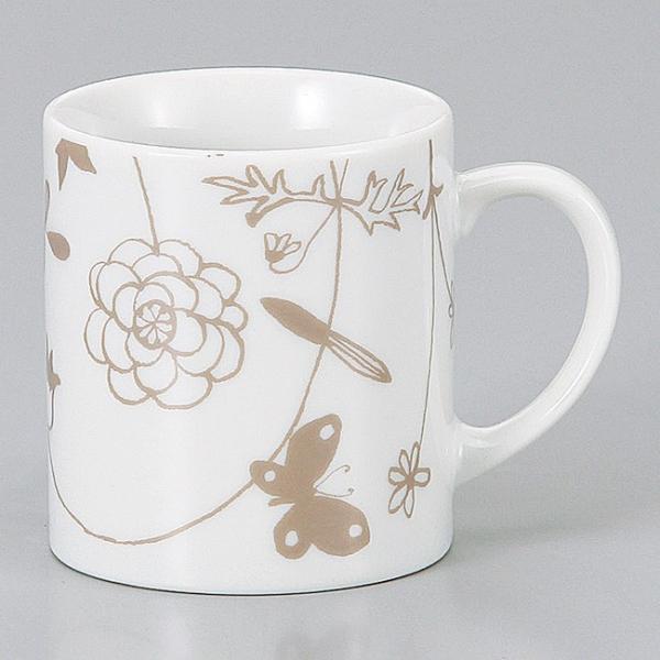 和食器 ガーデン蝶 マグカップ コーヒー 珈琲 紅茶 カフェ おしゃれ 陶器 うつわ おうち 軽井沢 春日井 ギフト