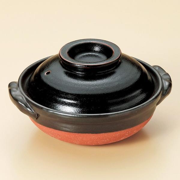 和食器 柚子天目 1〜2人用 6号鍋 萬古焼 土鍋 直火 耐熱 おうち ごはん おしゃれ ギフト 陶器 うつわ