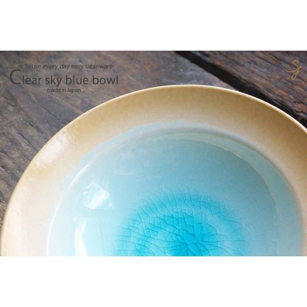 和食器 トルコブルーに吸い込まれそうな浅瀬水色の平鉢 和食器 おしゃれ ボウル 前菜 サラダ 小鉢 和皿 丸皿 美濃焼 小鉢 釉薬|ricebowl|04