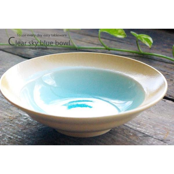 和食器 トルコブルーに吸い込まれそうな浅瀬水色の平鉢 和食器 おしゃれ ボウル 前菜 サラダ 小鉢 和皿 丸皿 美濃焼 小鉢 釉薬|ricebowl|06