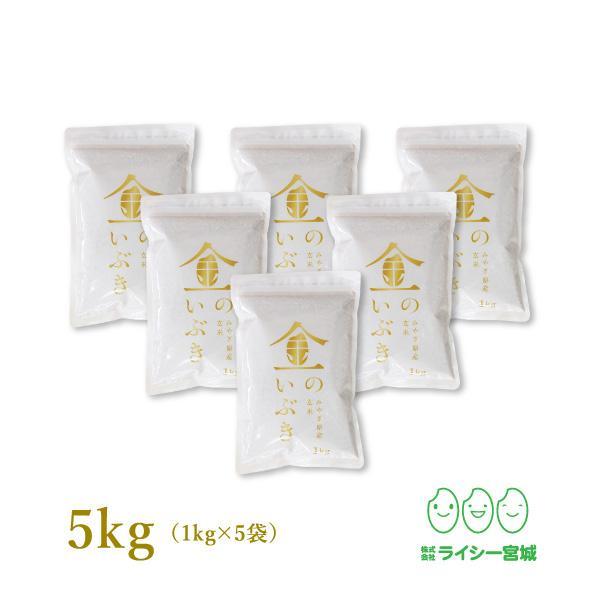 金のいぶき高性能玄米5kg玄米令和2年産小分け宮城県産真空圧縮パック1kg×5袋
