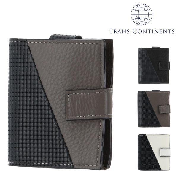 トランスコンチネンツ 二つ折り財布 ミニ財布 ジェットセッター メンズ  TC-6085119 TRANS CONTINENTS   ブランド専用BOX 本革 レザー 撥水 richard