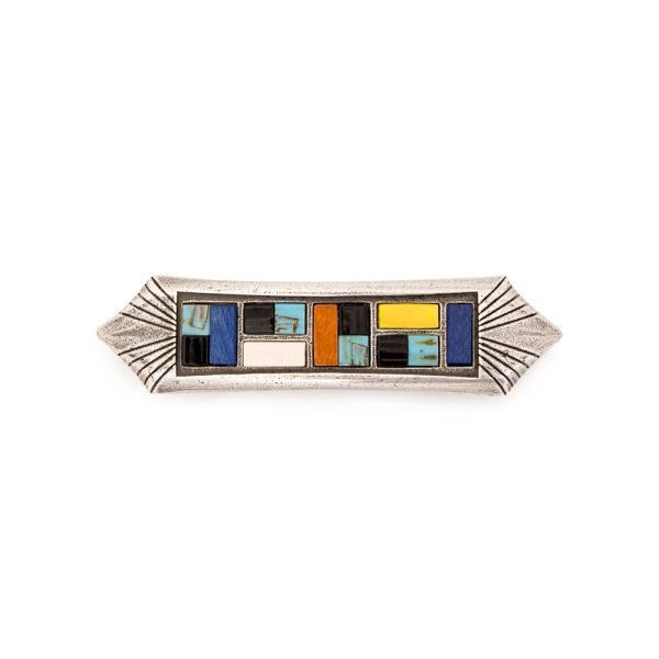 バレッタ Juliano Design ジュリアーノ デザイン VLMG16-7  メタル枠 ウッド ターコイズ レディース アクセサリー