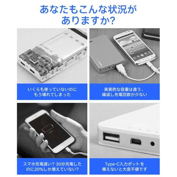 モバイルバッテリー iPhone 大容量 10000mAh スマホ充電器 軽量 コンパクト 安全 Type-C入力 2台同時充電 急速充電 PSE認証済み iPhone/iPad/Android 各種対応|richgo-japan|02