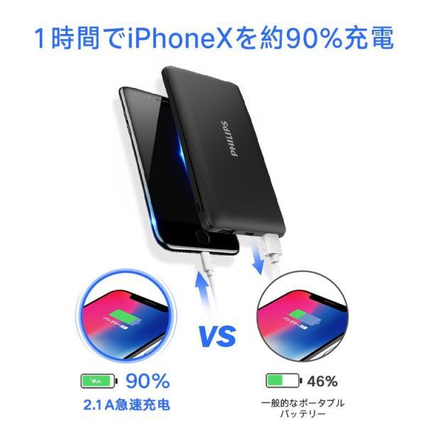 モバイルバッテリー iPhone 大容量 10000mAh スマホ充電器 軽量 コンパクト 安全 Type-C入力 2台同時充電 急速充電 PSE認証済み iPhone/iPad/Android 各種対応|richgo-japan|04