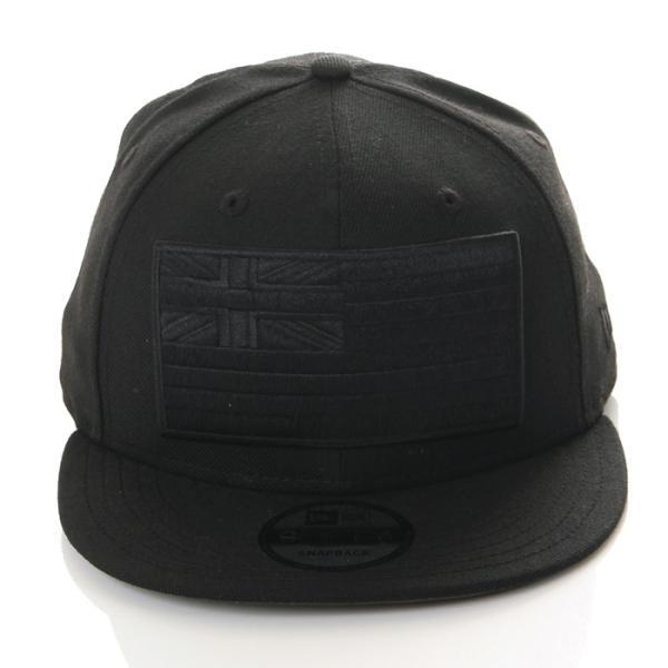 FITTED HAWAII SLAPSWIND 9FIFTY SNAPBACK CAP RICHRUSH EXCLUSIVE MODEL フィッテッド ハワイ × ニューエラ スナップバック キャップ ブラック×ブラック|richrush|02