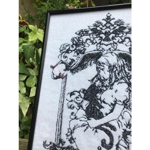 魔女の家 エレンの日記 額装刺繍|riffleshuffle|02