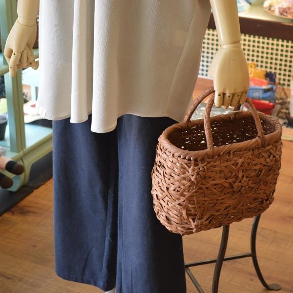 山ぶどう かごバッグ かごや タクミ製作所 五輪花模様 母の日