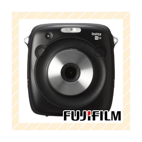 チェキ 本体 ハイブリッドインスタントカメラ チェキスクエア ブラック instax SQUARE SQ 10 INS SQUARE SQ10 FUJIFILM