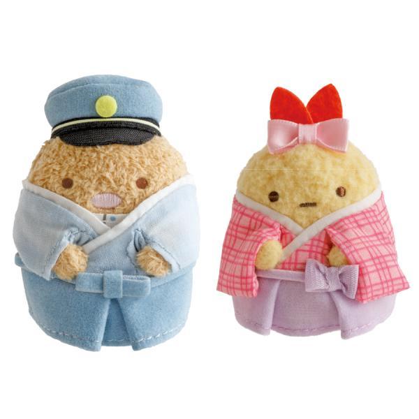 すみっコぐらしshop東京駅店限定 てのりぬいぐるみセット とんかつ&えびふらいのしっぽ