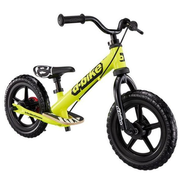 《軽量アルミフレーム、しっかりと止まれるイージーブレーキ搭載》ides キック(トレーニー)バイクD-Bike KIX AL(50458)ネオンイエロー