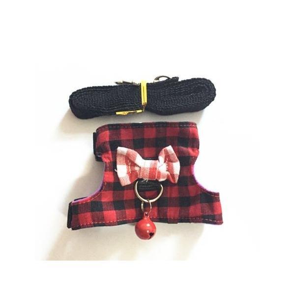 小動物 ハーネス(XS~M)  リード付き 散歩 胴輪 ハムスター  モモンガ フェレット うさぎ rin-shop 13