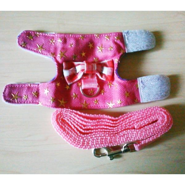 小動物 ハーネス(XS~M)  リード付き 散歩 胴輪 ハムスター  モモンガ フェレット うさぎ rin-shop 04