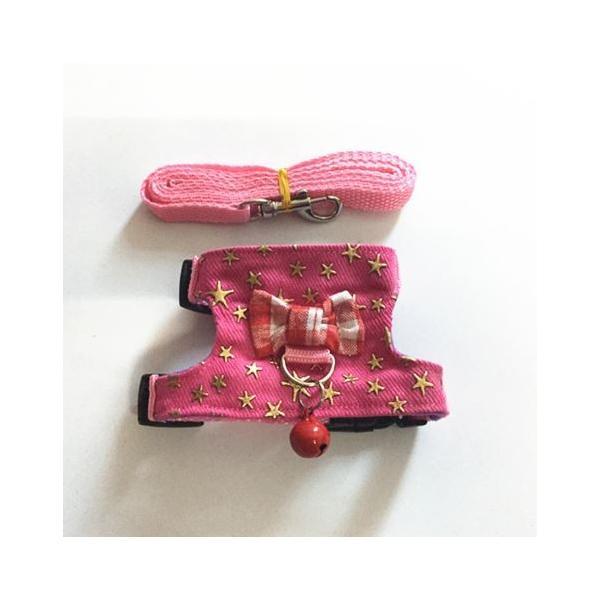 小動物 ハーネス(XS~M)  リード付き 散歩 胴輪 ハムスター  モモンガ フェレット うさぎ rin-shop 09