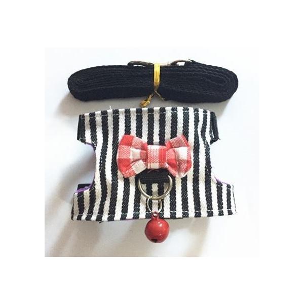 小動物 ハーネス(XS~M)  リード付き 散歩 胴輪 ハムスター  モモンガ フェレット うさぎ rin-shop 10