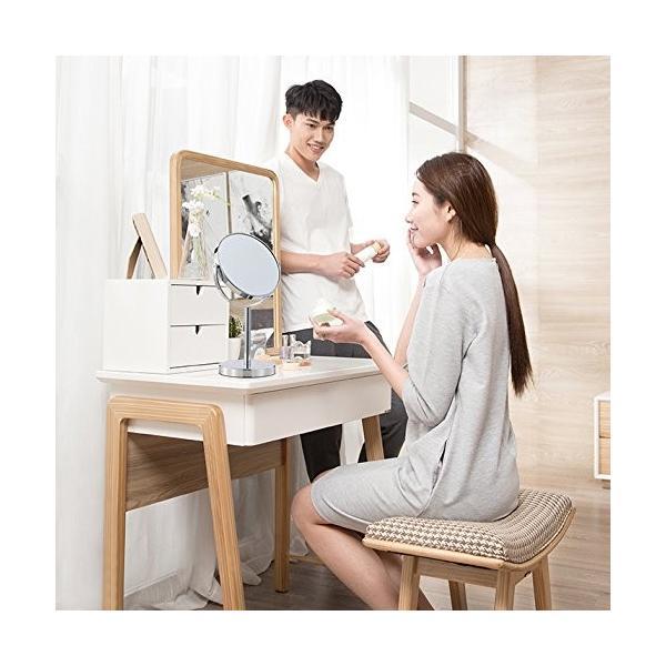 (セーディコ) Cerdeco シンプルデザイン 真実の両面鏡DX 5倍拡大鏡 360度回転 卓上鏡 スタンドミラー メイク 化粧道具 鏡面148mm rinco-shop 03