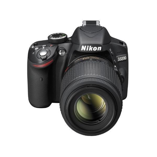 Nikon デジタル一眼レフカメラ D3200 200mmダブルズームキット 18-55mm/55-200mm付属 ブラック D3200WZ200BK|rinco-shop