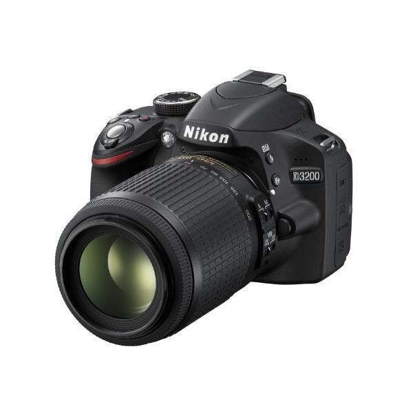 Nikon デジタル一眼レフカメラ D3200 200mmダブルズームキット 18-55mm/55-200mm付属 ブラック D3200WZ200BK|rinco-shop|03