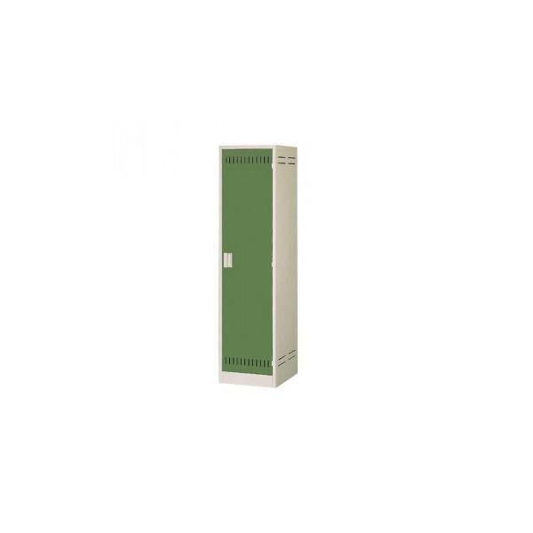 掃除用具ロッカー ニューグレー×ゴールドグリーン COM-NCP|rindr