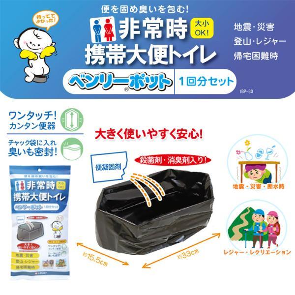 防災グッズ トイレ 非常用簡易トイレ ベンリーポット 非常時携帯大便トイレ 1回分セット ring-g 02