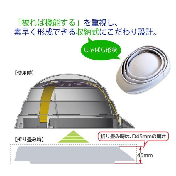 避難・生活用品 防災用品 安全用品 A4サイズ 蛇腹形式 備蓄 収縮式防災ヘルメット オサメット(OSAMET) KGO-01 オレンジ|ring-g|06
