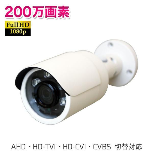 防犯カメラ 家庭用 屋外 監視カメラ 高画質200万画素 防水 赤外線LED 夜間撮影可能 小型バレットタイプ 4in1カメラ UN-FB1200|ring-g
