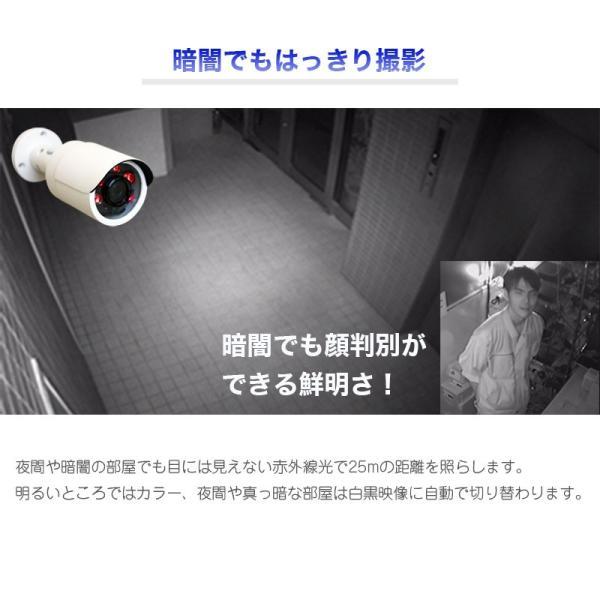 防犯カメラ 家庭用 屋外 監視カメラ 高画質200万画素 防水 赤外線LED 夜間撮影可能 小型バレットタイプ 4in1カメラ UN-FB1200|ring-g|03