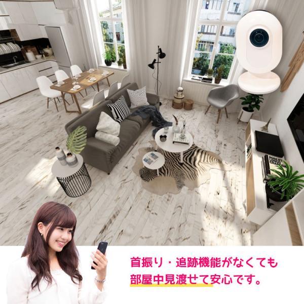 防犯カメラ 家庭用 ワイヤレス 見守りカメラ ペットカメラ ベビーモニター Wi-Fi スマホ  iPhone 720° EPN-C13|ring-g|04