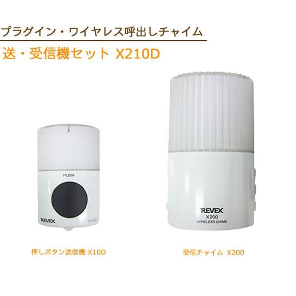 電化製品 REVEX Xシリーズ 人感センサーチャイム 来客用 リーベックス プラグインワイヤレス呼び出しチャイム 送・受信機セット X210D|ring-g