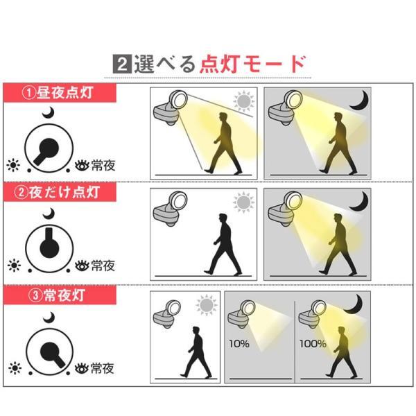 センサーライト 屋外 LED 防雨 コンセント AC100V 650ルーメン 人感センサー ムサシ RITEX ライテックス LED-AC309 ring-g 06