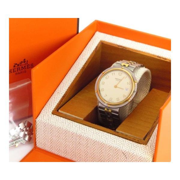 エルメスクリッパー腕時計稼働中ボーイズウィメンズコマ付きHERMES(中古)