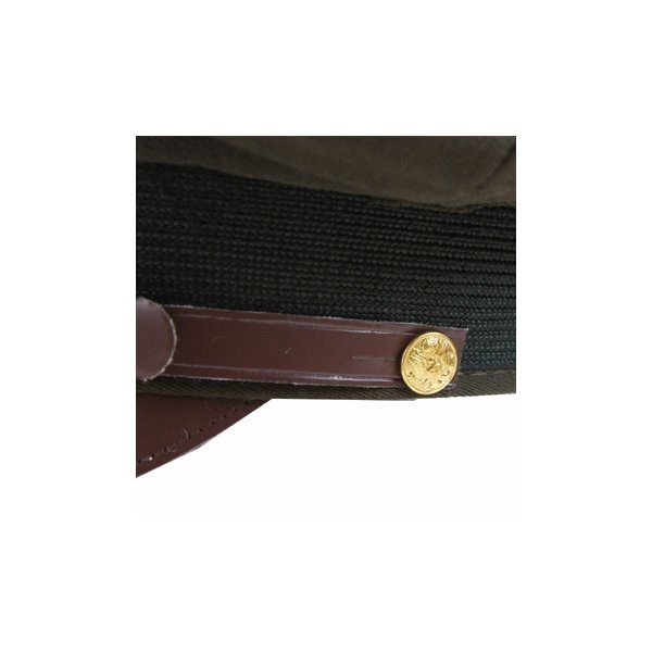 USタイプ オフィサーキャップ HC031YN ブラウン 7 1/2(約60cm) 〔 レプリカ 〕