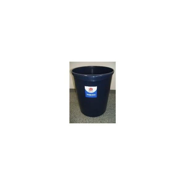 (業務用5セット)ジョインテックス 持ち手付きゴミ箱丸型18.3Lブルー N153J-B5 5個 ×5セット