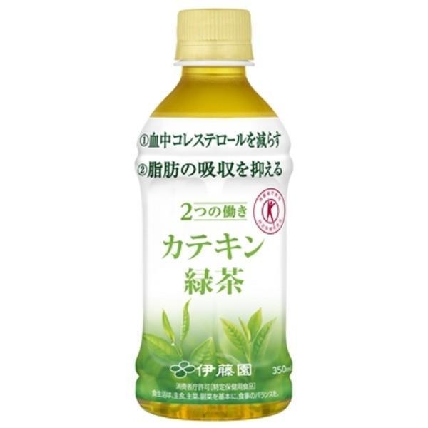 〔まとめ買い〕伊藤園 2つの働き カテキン緑茶 電子レンジ対応 HOT&COLD PET 350ml×24本(1ケース)|rinkobe