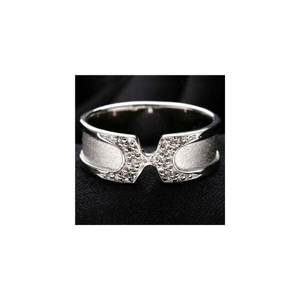 0.05ct(ダイヤ10石)シルバーダイヤリング 指輪9号