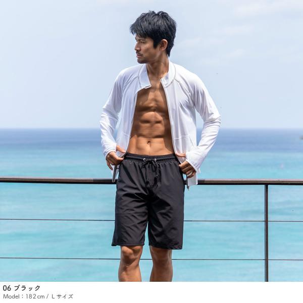 サーフパンツ メンズ 水着 男性用 ボードショーツ トランクス 水陸両用 インナー付き|rinne|07