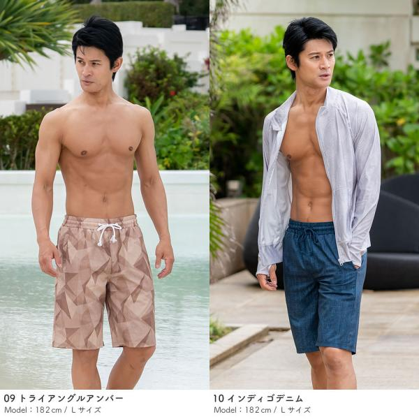 サーフパンツ メンズ 水着 男性用 ボードショーツ トランクス 水陸両用 インナー付き|rinne|09