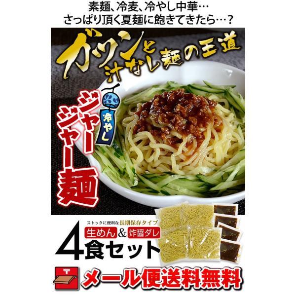ラーメン 送料無料 ポイント消化☆冷やしジャージャー麺 4食 セット 麺 お取り寄せ セール|rinsendou|02